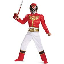 Red Ranger Megaforce Classic Muscle Costume Kids Power Rangers Halloween