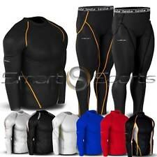 New Mens Thermal Winter Compression Baselayer Pants Tops Tights Shorts | Tesla