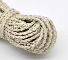 Wholesale Lots Beige Braiding Leatheroid Jewelry Cord 3mm
