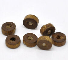 Wholesale Lots Coffee Rondelle Wood Spacer Beads 8mm