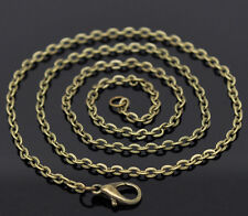 "Wholesale Lots Bronze Tone Lobster Clasp Link Chain Necklaces 20"" MZB12922"
