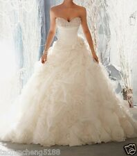 2014 white / ivory wedding dress custom size 2-4-6-8-10-12-14-16-18-20-22+