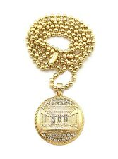"""New Iced Out LAST SUPPER Micro Pendant &3mm/27"""" Ball Chain Small Necklace MMP13"""