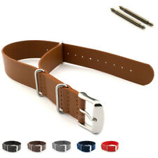 Military Army MoD G10 Watch Band Strap Genuine Leather Stainless Steel Buckle