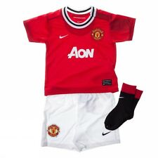 Manchester United Nike home red polyester casual baby football full kit 2011-12