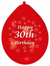 30th Happy Birthday Party Balloons Helium Air Latex Colour choose quantity
