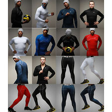 Mens Thermal Compression Under Base Layers Top Shirts Tights Pants Bottoms Golf