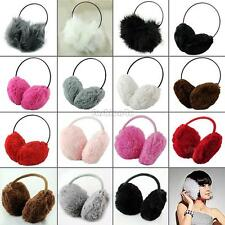 WOMENS FLEXIBLE EARMUFFS EARCAP EARFLAPS EAR MUFFS WINTER EAR WARMER EARFLAP