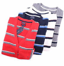 Tommy Hilfiger Women Stripe Cableknit Cable Knit Ivy Cardigan Sweater - $0 Ship