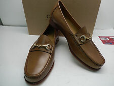 NEW COLE HAAN ASCOT II BRITISH TAN LEATHER LOAFERS WITH GOLD BIT