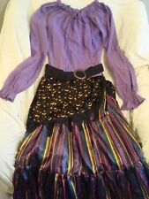 Gypsy Fortune Teller Complete Boutique Costume Dress Girls 4-12 NEW FREE SHIP