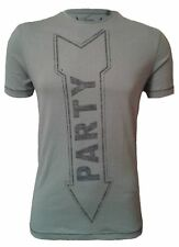 Mens Burton Novelty Funny Party Crew Neck T-Shirt - Grey - S,M,L,XL,XXL