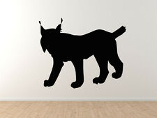 Wild Cat #1- Lynx Hunter Predator Bobcat Eurasian Iberian - Vinyl Wall Decal Art