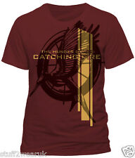 The Hunger Games Catching Fire Stylised Mockingjay T Shirt  MENS OFFICIAL  857