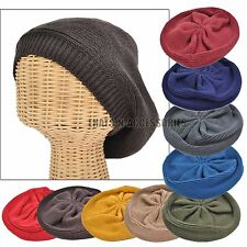 Ladies Winter Knit Crochet Beret Tam Newsboy Baggy Ski Beanie Slouch Fashion Hat