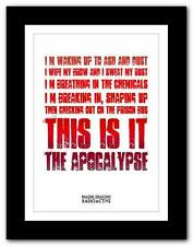 ❤ Imagine Dragons – Radio❤ song lyric typography poster art print A1 A2 A3 or A4