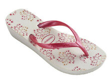 Havaianas Women`s Flip Flops High Light II White/Pink Wedge Sandal All Sizes NWT