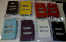 for sony xperia u st25i st 25i flip case caller id Synthetic Leather table talk