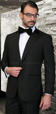 NEW CLASSY MENS SOLID SUIT WEDDING FATHER OF THE GROOM FORMAL BEST MAN 100% WOOL