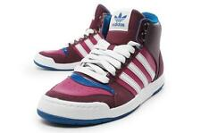 Adidas Originals Miduru burgundy/blue women court mid 2 lace up trainers G61141