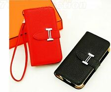 Elegant Real Leather Case/Wallet For Iphone 4 & 5C 5 5S  14 colors Promo Price