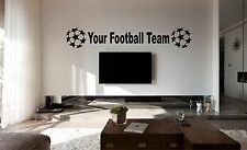PERSONALISED FOOTBALL TEAM Wall Art Sticker, Decal, Mural Car Vinyl, YOUR TEAM!