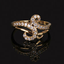 Wholesale1pc14K Rose Gold Filled Simple Designed Cubicia Zircon Rings Size 7.8.9
