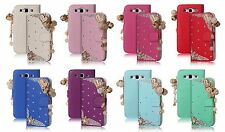 Galaxy S3 i9300 Case accessories Slot leather wallet Cover 3D Lover Heart Design