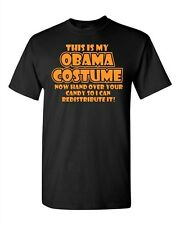 Adult Black Obama Costume Holloween Spooky Funny Anti Barrack Humor T-Shirt Tee