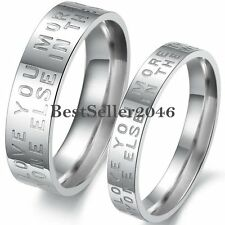 "Stainless Steel ""I Love You More than Anyone Else In the World "" Promise Ring"