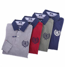 Tommy Hilfiger Men Long Sleeve Logo Polo Custom Fit Rugby Shirt - $0 Shipping