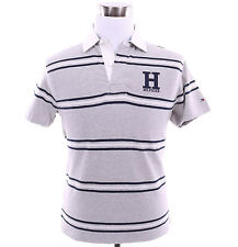 Tommy Hilfiger Men Logo Short Sleeve Stripe Polo Shirt Rugby - Free $0 Shipping