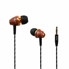 Awei Wooden Stereo Headphones Earphones Noise Isolating Headsets Earbuds In-ear