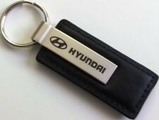 Hyundai Deluxe Assorted Logo Stainless/Leather  Key Rings - Select Style
