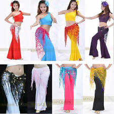 Belly Dance Hip Triangle Scarf Sparkly Sequins Shawl 9 Colors Dancing Costumes