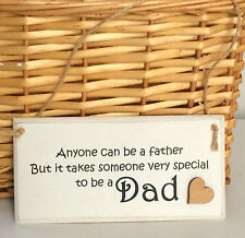 FATHERS DAY Gift DAD PLAQUE Vintage SHABBY CHIC sign DAD GIFT Dad sign 15cm