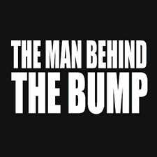 The Man Behind The Bump T-Shirt Newborn Baby Dad TEE Pregnant Maternity To Be