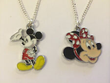MICKEY & MINNIE MOUSE CHILDRENS NECKLACE, COSTUME JEWELRY, BIRTHDAY GIFT