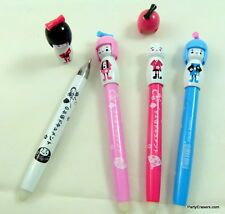 1x Cute Colourful Japanese Girl Erasable Blue Ball Point Pen 0.8mm