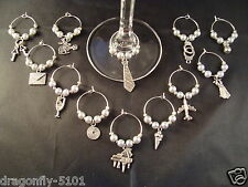 Set of Fifty Shades' Inspired Wine/Cocktail Glass Charms 6,8,12  Elizabeth*SRAJD
