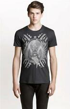 New Armani Exchange AX Mens Muscle/Slim Fit Striped Eagle Crest Tee Shirt