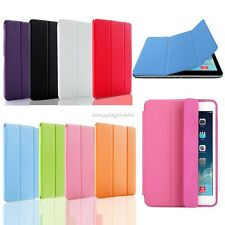 For iPad 2 3rd 4th mini W/Stand Folding Folio Smart Case + Ultra Back Cover IS6H