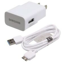 SAMSUNG OEM HOME WALL TRAVEL AC CHARGER POWER ADAPTER USB 3.0 SYNC DATA CABLE