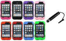 Deluxe 3-Piece Hard Case Cover Skin w.Screen protector For ipod Touch 4th Gen 4G