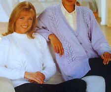 REPRODUCED RETRO KNITTING PATTERNS LADYS JUMPERS TOPS CARDIGANS BUY 3 GET 1 FREE