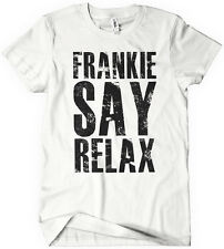 FRANKIE SAY RELAX T-Shirt Funny Retro Soft GOES TO HOLLYWOOD 80s Music Tee
