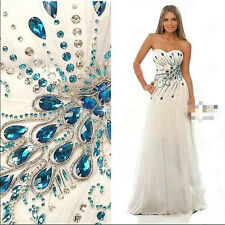 NEW Sleeveless Sweetheart Rhinestone Chiffon Beach Bride Wedding Dress Custom