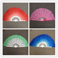 Chinese Japanese Belly Dance folding Fan Large Hand 4 colors