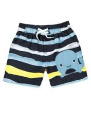 GYMBOREE BUBBLY WHALE STRIPED N WHALE SWIM TRUNKS 3 6 12 NWT