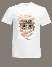 Awesome Goalie T-SHIRT Goalkeeper Muscels six pack t-shirt sizes S TO XXXL
